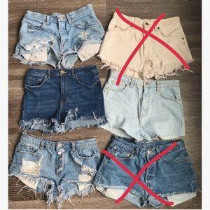 MOVING SALE🎉 Jean shorts bundle